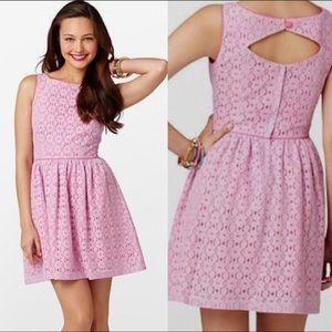 Lilly Pulitzer Aleesa Lace Petal Pusher Pink Dress